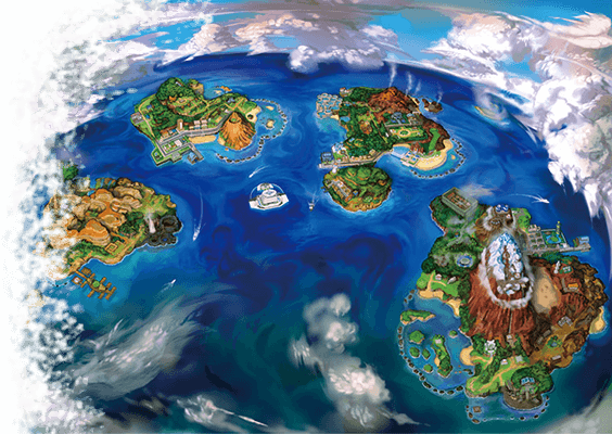 Region Alola - Pokemon Sun & Moon